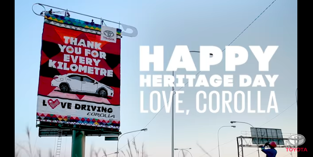 FCB Africa And Toyota SA Create Corolla Love Letter Beaded Billboard