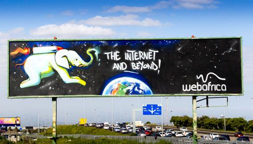 Webafrica Uses Graffiti To Produce A Billboard Of The internet And Your Imagination