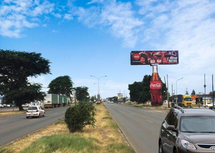 Primedia Outdoor Places A Gigantic Coke In Zambia