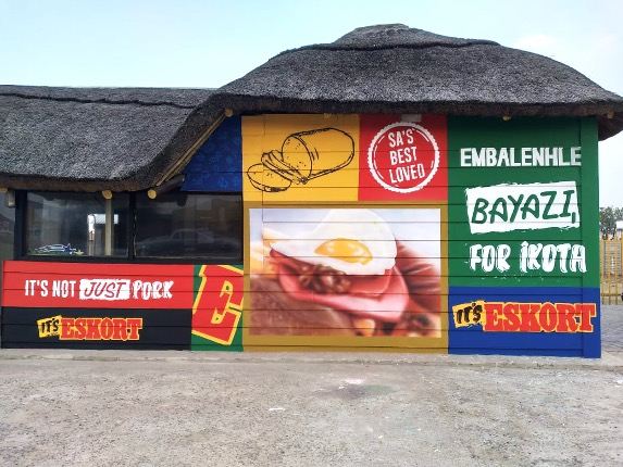 Eskort Campaign Broadens Reach With Wall-Murals, Spaza Shop And School Signage