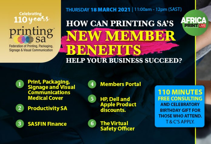 Register For Printing SA's Free Webinar On Its New Member Benefits For The Visual Communications Industry